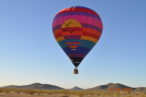 Hot air balloon rides for 4 people in Arizona