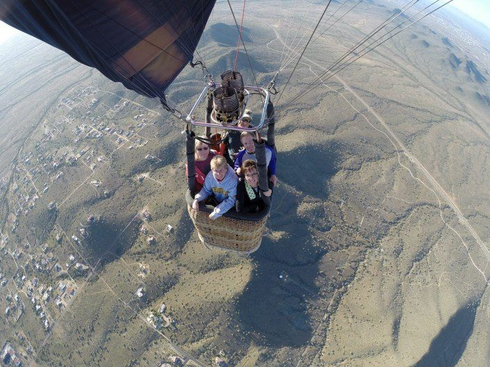 Highest hot air balloon rides in Arizona