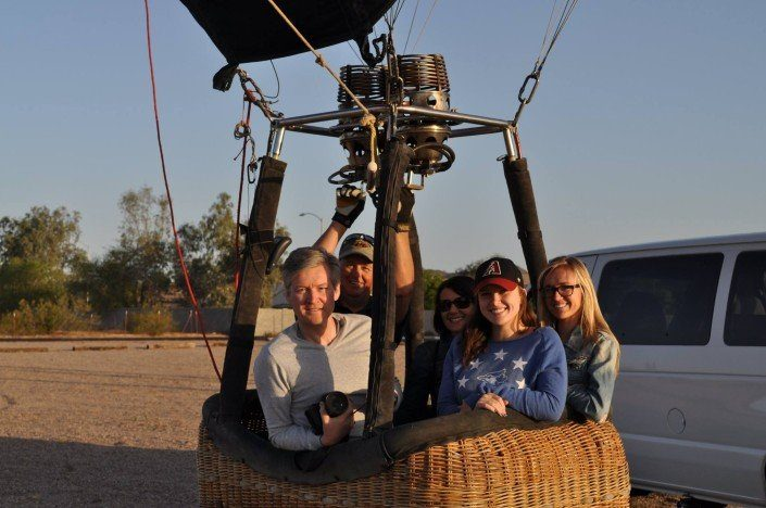 4 people hot air balloon rides in Arizona