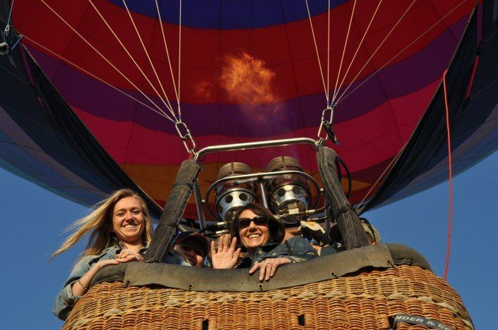 Family hot air balloon rides in Arizona