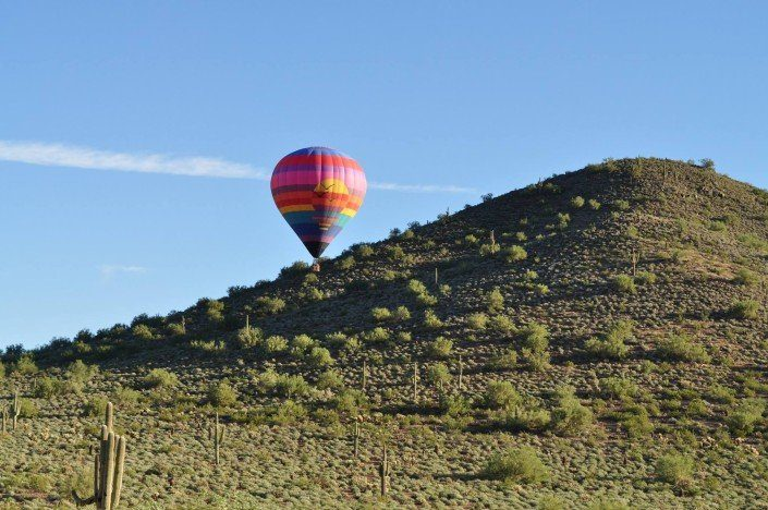 Firebird hot air balloon rides in Phoenix, AZ