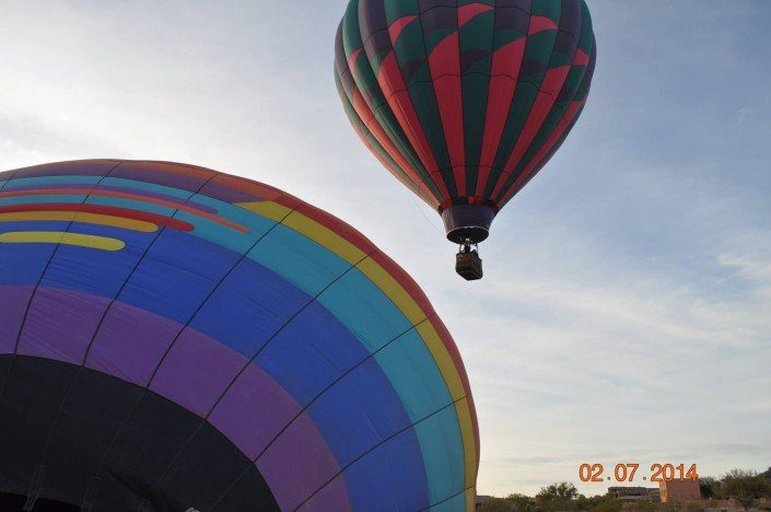 Safe family hot air balloon rides in Arizona state