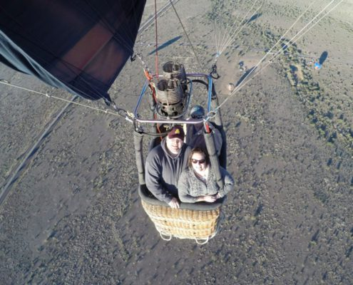 Couple on Hot Air Balloons